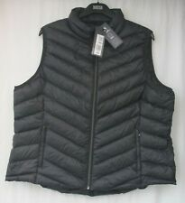 Ladies Marks and Spencer Black Stormwear ZIPPED Waistcoat With Hood Size 20