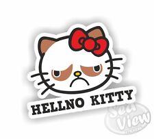 Grumpy Cat Hello Kitty Etiqueta Coche Camioneta infierno Sin Adhesivos Calcomanías Gracioso Pegatina vew