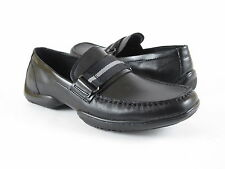 Kenneth Cole Unlisted Mens Casual Drivers Moccasins Loafers Black Leather Shoes