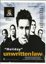 Unwritten Law Holiday Rare Trade Ad Poster for 1998 Cd