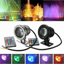 10W RGB LED Underwater Spot Flood Light Pool Yard Fountain Lamp AC85-265V/DC12V