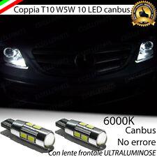 COPPIA LUCI POSIZIONE 10 LED MERCEDES CLASSE B T10 W5W CANBUS 100% NO ERROR