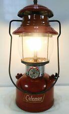 Vintage Coleman 200A Red Single Mantle Lantern April 1957 Sunrise Globe