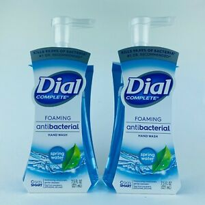 2-Pack Dial Complete Spring Water Foaming Liquid Hand Soap 7.5 oz Kills Bacteria