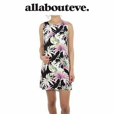 Womens All About Eve Palmer Shift Dress Palm Print Mini Summer Scoop Beach