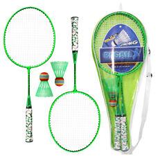 REGAIL Kinder Badminton Set Badmintonschläger Federball Tasche Geschenk F2Q2