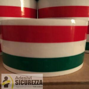 NASTRO SCOTCH ADESIVO BIANCO CON BANDIERA ITALIANA IMBALLAGGIO 50mm x 66MT