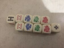 Ten Poker Dice (French and English suits)