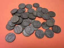 Roll of 40 Circulated, Assorted 35% Silver Jefferson War (1942-45) Nickels
