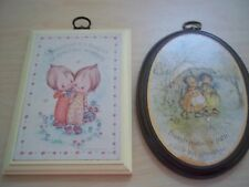 Vintage Betsey Clark Wall Plaque 1979 & Mary Hamilton Wall Plaque - Friendship
