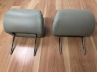 2006-2011 Cadillac DTS OEM FRONT LEATHER HEADREST PAIR **TAN-BOTH SIDES**