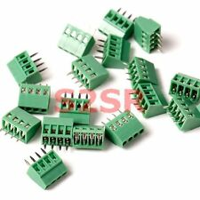 5x 4-way 4 Pin Screw Terminal Block Connector 2.54mm Pitch PCB Mount