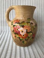 Arline Handmade Ceramic Pitcher  Honduras Floral Design