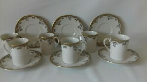 Royal Doulton Lynnewood Demmitasse Espresso Coffee Cups And Saucers X6 tc1018.