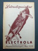 "ELECTROLA Neuerscheinungen Mai 1938  ""Koffergrammophon"""