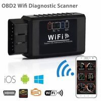1PC Auto Car Diagnostic Scanner Scan Tool ELM327 WIFI OBD2 For iPhone Android PC