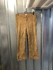 """Liz Claiborne Classic Fit Flare Tan Brown Womens Cord Jeans Trousers 33"""" 12UK"""