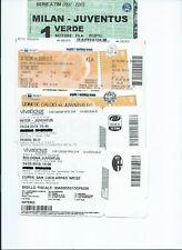 Blocco biglietti calcio football Juventus in campionato