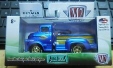 2018 M2 Machines Release 46 Auto Trucks 1958 Dodge COE Truck Blue/Gold New