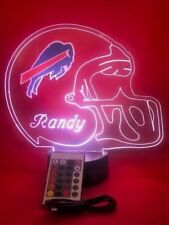 Buffalo Bills NFL Football Light Up Light Lamp LED With Remote Personalized Free
