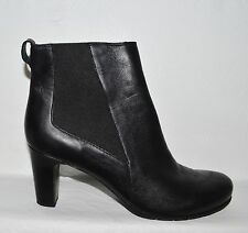 ROCKPORT TOTAL MOTION SZ 10.5 M BLACK LEATHER CHELSEA BOOTS BOOTIES