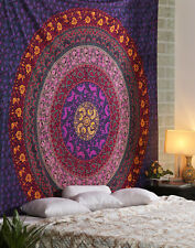 Indian Decor Hippie Bohemian Twin Size Tapestry Wall Hanging Bedding Bed Sheet