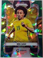 2018 PANINI PRIZM WORLD CUP SOCCER * WILLIAN #/25 GREEN CRYSTAL * BRAZIL!