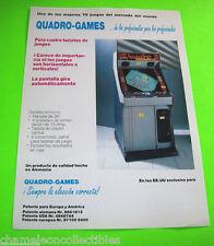 WONDER BOY By QUADRO-GAMES ORIGINAL NOS VIDEO ARCADE GAME PROMO SALES FLYER