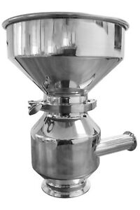Grist Hydrator with 1.5″ Tri Clamp, 304 Sanitary Stainless Steel