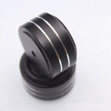 4Pcs HIFI AMP Speaker Aluminum Isolation Feet Pad Turntable DAC 40x20mm Black