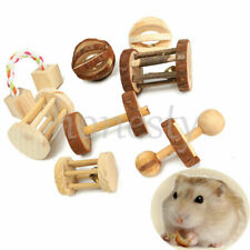 Small Pet Animal Wooden Exercise Toy for Hamster Hedgehog Mouse Rat Guinea Pig