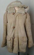 Women's Down Under International Double Faced Suede Sheepskin Jacket Coat Size S