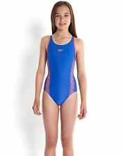 Speedo Junior Girls Monogram Muscleback Swimming Costumes Swimsuit 24INCHES