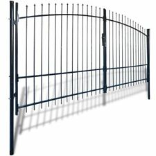 Double Door Fence Gate With Spear Top 400 X 248 Cm
