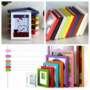 """Picture Photo Box Wall Frame A4/5""""/6""""/7""""/8""""/10"""" Multi-size Decor Wooden Room Hot"""