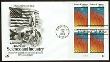 HuskyStamps ~ United States #2031, Plate Block of 4, FDC, 'ArtCraft', 2 pictures