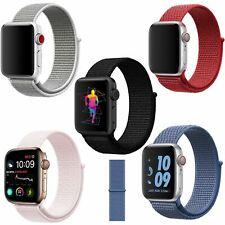 Bracelet Ban Pour Apple Watch Matériel en Nylon Tressé Imperméable Réglable