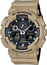 CASIO G-Shock G-Aviation Watch Tan Band GA100L-8A Water Resistant