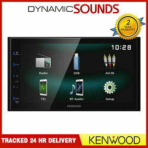 """Kenwood DMX120BT 6.8"""" WVGA Media Receiver Double Din Bluetooth Stereo USB"""