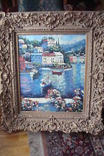 """Oil on Canvas with amazing frame, signed J. Calvin, Frame measures 37"""" x 33"""""""