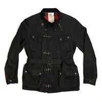 Rare Evisu Roadmaster Jacket US Parachute Coat Men's Large Black Dry Goods