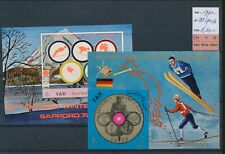 LM45224 Yemen 1971 imperf sports olympics sheets MNH cv 30 EUR