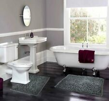 Extra Large Bath Mat Set 2 Piece Non Slip Rubber Pedestal Mat Loop Bathroom Rug