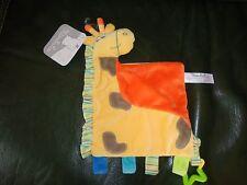 Doudou Kimbaloo La Halle Plat Girafe Vache Orange Jaune Taches Etoile  Neuf