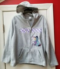 4b3f6bfda60 Disney Eeyore Spell Out Winnie the Pooh Zip Hoodie RARE Women s XL Cozy  Fleece