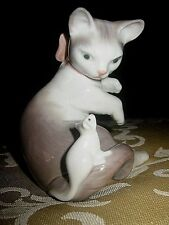 """Cat & Mouse Lladro Figurine:Gloss Finish, #5236, 3 1/2"""", Ex. Condition, Gift?"""