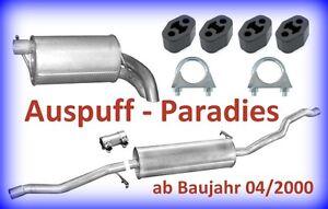 Abgasanlage Auspuff für Ford Galaxy 1.9TDi (WGR) 90PS & 115PS ab 04/2000 + Kit