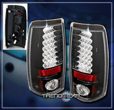 2003-2006 CHEVY SILVERADO/GMC SIERRA LED TAIL LIGHTS REAR LAMPS BLACK 2004 2005