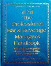 PROFESSIONAL BAR & BEVERAGE MANAGER'S HANDBOOK - HARDBACK - BRAND NEW / SEALED
