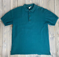 Vintage LL Bean Polo Shirt Mens Size L Green Made In USA Short Sleeve